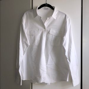 Frame button up cotton white shirt M LIKE NEW